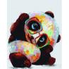 Панда в очках Раскраска картина по номерам на холсте PK16060