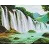 Пример выложенной работы Горный водопад Алмазная вышивка мозаика Алмазное Хобби AH5339