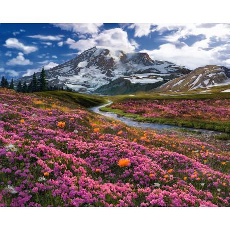 Весна в горах Алмазная вышивка мозаика Алмазное Хобби AH5344