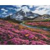 Пример выложенной работы Весна в горах Алмазная вышивка мозаика Алмазное Хобби AH5344