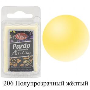 Полупрозрачная жёлтая Pardo Clay Полимерная глина пластика Viva Decor