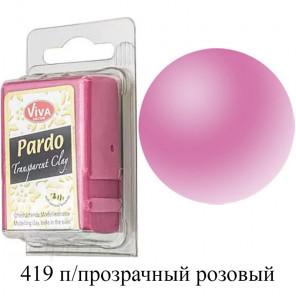 Полупрозрачная розовая Pardo Clay Полимерная глина пластика Viva Decor