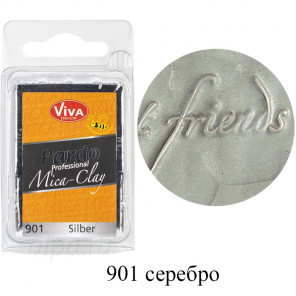 Серебро Pardo Mica Clay Полимерная глина пластика Viva Decor