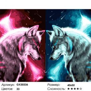 Сложность и количество цветов Звездные волки Раскраска картина по номерам на холсте GX30336