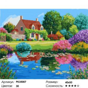 Сложность и количество цветов Деревенский пруд Раскраска картина по номерам на холсте PK35007