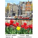 Сложность и количество цветов Городские цветы Раскраска картина по номерам на холсте PK35019