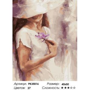 Сложность и количество цветов Тайная незнакомка Раскраска картина по номерам на холсте PK35016