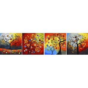 Чудо-дерево Модульная картина по номерам на холсте с подрамником PSX4002