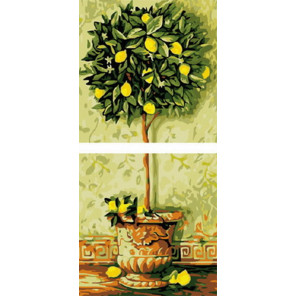 Лимонное дерево Модульная картина по номерам на холсте с подрамником PRX2003