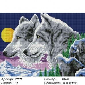 Сложность и количество цветов Ночные волки Алмазная мозаика вышивка на подрамнике EF573