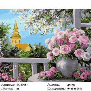 Сложность и количество цветов Цветущая веранда Раскраска картина по номерам на холсте ZX 20081