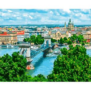 Мост в Будапеште Раскраска картина по номерам на холсте GX28006