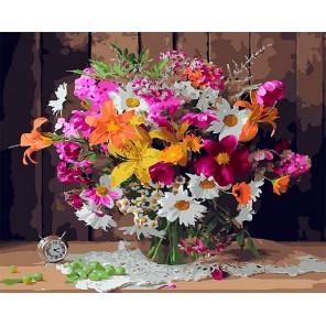 Летние цветы Раскраска картина по номерам на холсте GX28825