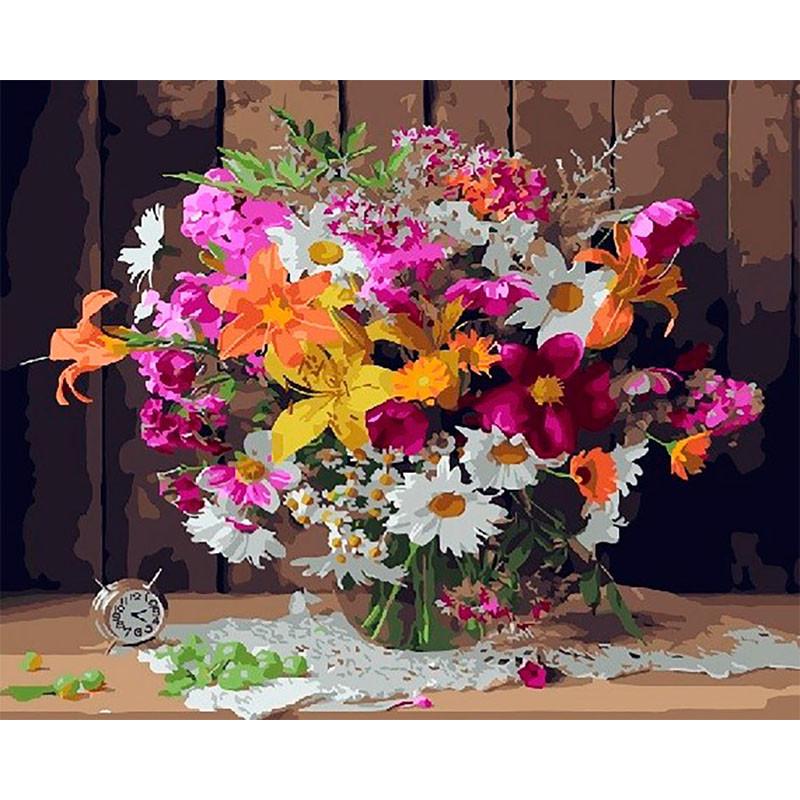 GX28825 Летние цветы Раскраска картина по номерам на ...