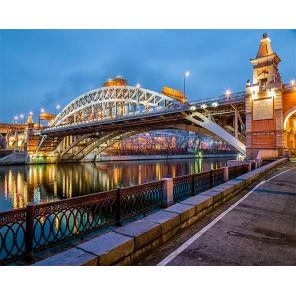 Новоандреевский мост в Москве Раскраска картина по номерам на холсте GX30551