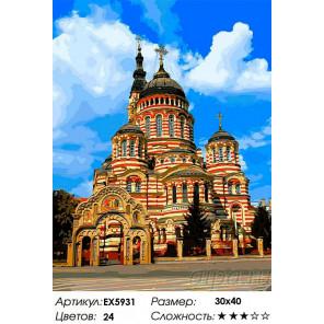 Сложность и количество цветов Собор Благовещения Раскраска картина по номерам на холсте EX5931