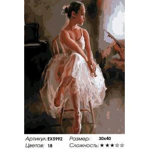 Сложность и количество цветов Юная балерина Раскраска картина по номерам на холсте EX5992