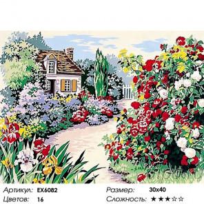 Сложность и количество цветов Цветущий сад Раскраска картина по номерам на холсте EX6082
