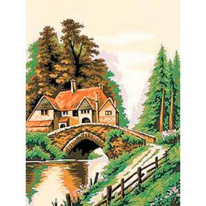 Домик у реки Раскраска картина по номерам на холсте EX6087