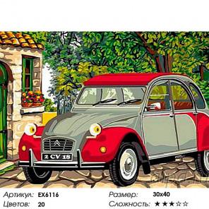 Сложность и количество цветов Ситроен Раскраска картина по номерам на холсте EX6116
