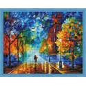 Осенняя прогулка Алмазная мозаика на подрамнике QA200223