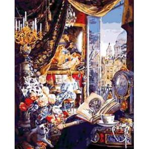 Окно в Париж Раскраска картина по номерам на холсте MG6141