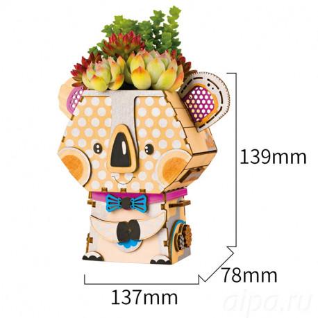 Коала Цветочный горшок 3Д пазл FT732
