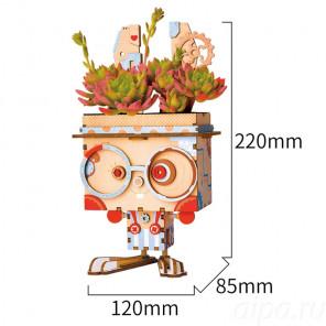 Кролик Цветочный горшок 3Д пазл FT741