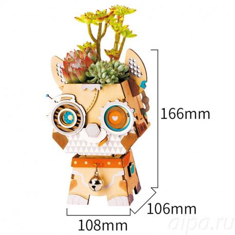 Щенок Цветочный горшок 3Д пазл FT742