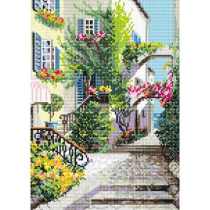 Итальянский дворик Алмазная вышивка мозаика Риолис АМ0025
