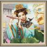 Пример вышитой работы в рамке Волшебная флейта Набор для вышивания Золотое Руно ОО-005
