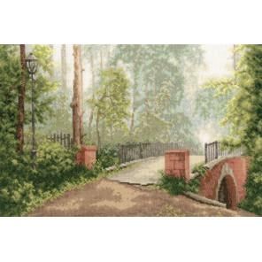 Мост в старом парке Набор для вышивания Золотое Руно ОО-006