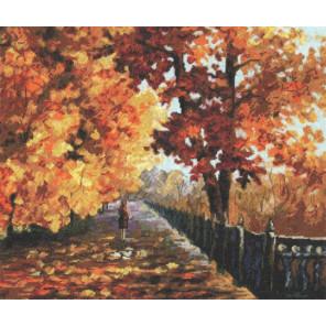Блюз падающей листвы Набор для вышивания Золотое Руно ОО-007