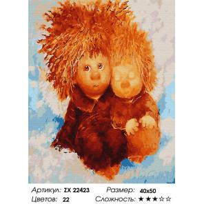 Сложность и количество цветов Ангелы семьи Раскраска картина по номерам на холсте ZX 22423