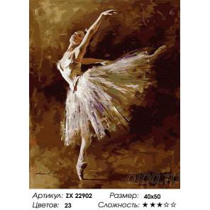 Сложность и количество цветов Душа балерины Раскраска картина по номерам на холсте ZX 22902