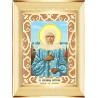 Пример оформления в рамку Святая Матрона Ткань для вышивания с нанесенным рисунком Божья коровка 0072