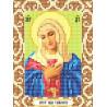 Богородица Умиление Ткань для вышивания с нанесенным рисунком Божья коровка 0074