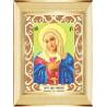 Пример оформления в рамку Богородица Умиление Ткань для вышивания с нанесенным рисунком Божья коровка 0074