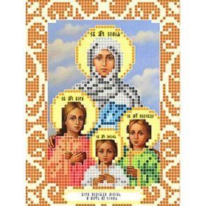Вера, Надежда, Любовь и их мать София Ткань для вышивания с нанесенным рисунком Божья коровка 0077