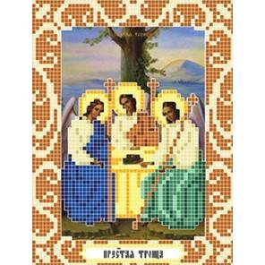 Пример оформления в рамку Святая Троица Ткань для вышивания с нанесенным рисунком Божья коровка 0083