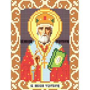 Святой Николай Чудотворец Ткань для вышивания с нанесенным рисунком Божья коровка 0086