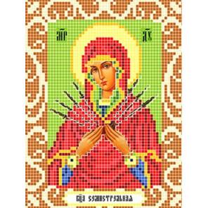 Богородица Семистрельная Ткань для вышивания с нанесенным рисунком Божья коровка 0090