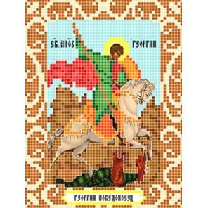 Святой Георгий Победоносец Ткань для вышивания с нанесенным рисунком Божья коровка 0092