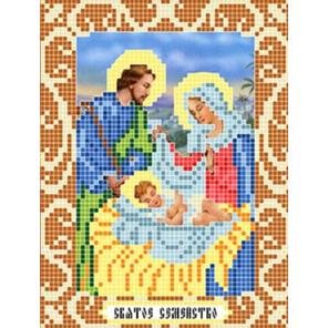Святое семейство Ткань для вышивания с нанесенным рисунком Божья коровка 0095