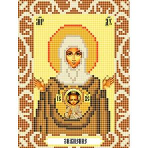 Богородица Знамение Ткань для вышивания с нанесенным рисунком Божья коровка 0097