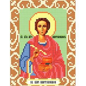 Святой Пантелеймон Ткань для вышивания с нанесенным рисунком Божья коровка 0099