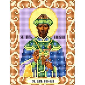 Святой Царь Николай Ткань для вышивания с нанесенным рисунком Божья коровка 0101