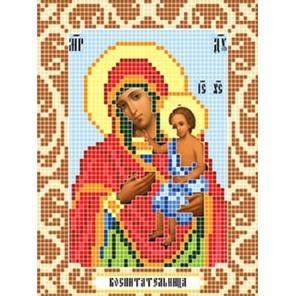 Богородица Воспитательница Ткань для вышивания с нанесенным рисунком Божья коровка 0104