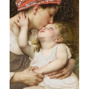 Материнская нежность Ткань с нанесенным рисунком для вышивки бисером Конек 1288