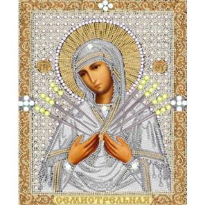 Богородица Семистрельная Ткань с нанесенным рисунком для вышивки бисером Конек 7115